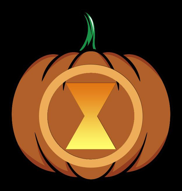 Black Widow Pumpkin Design