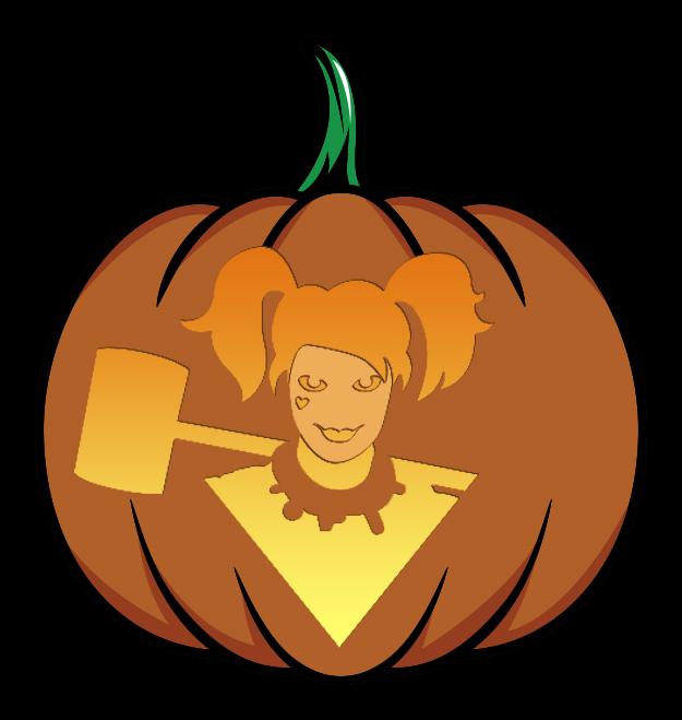 Harley Quinn Pumpkin Design