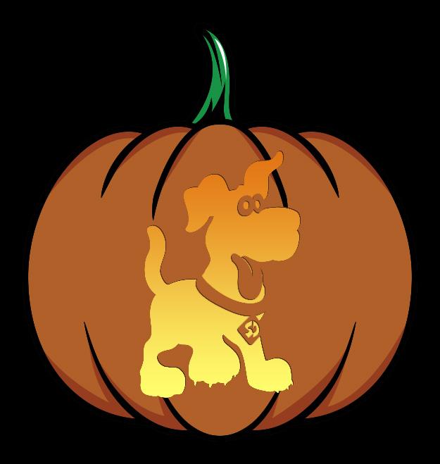 Puppy Scooby-Doo Pumpkin Design
