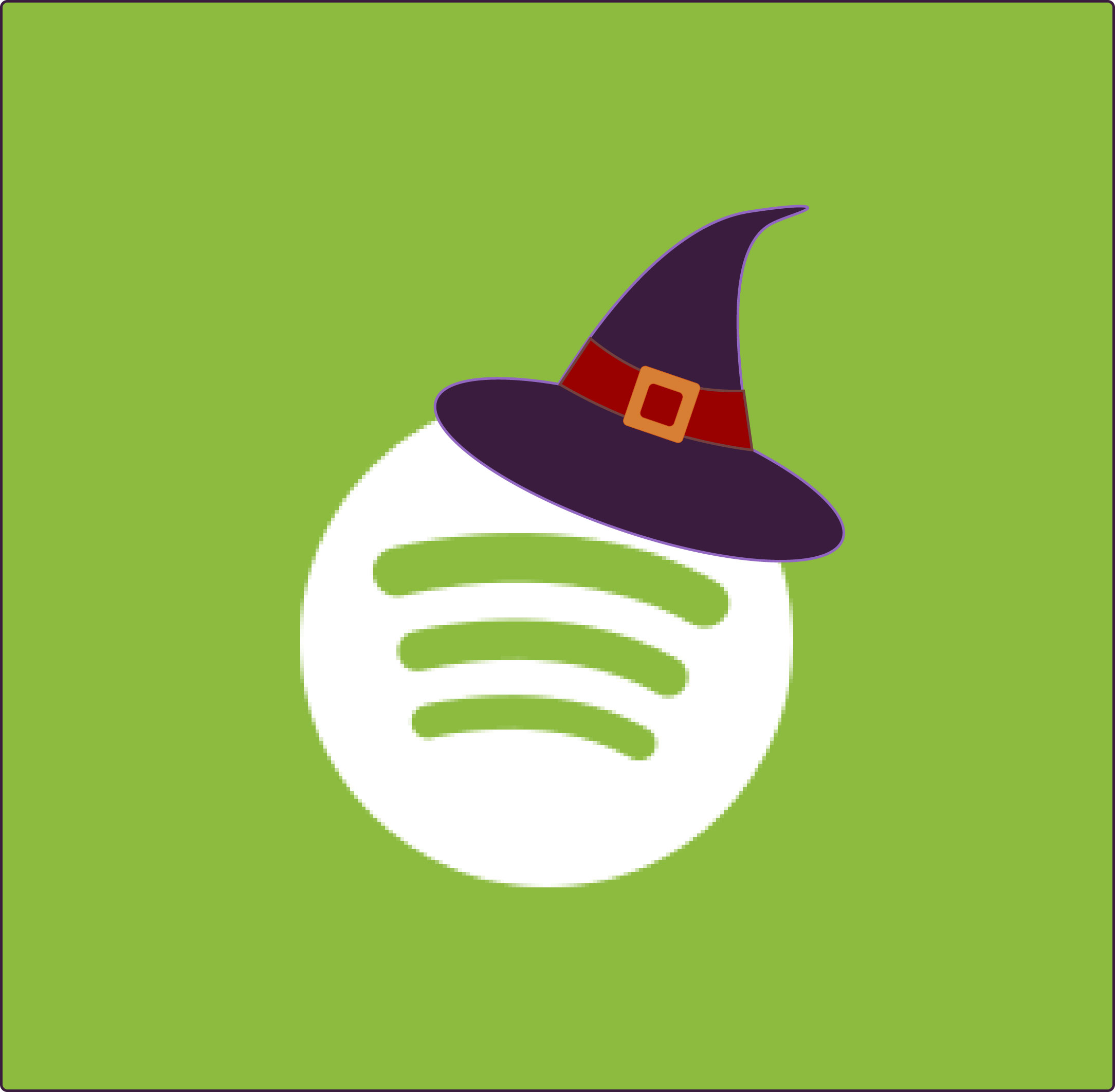 Spotify Halloween App Icon from HalloweenCostumes.com