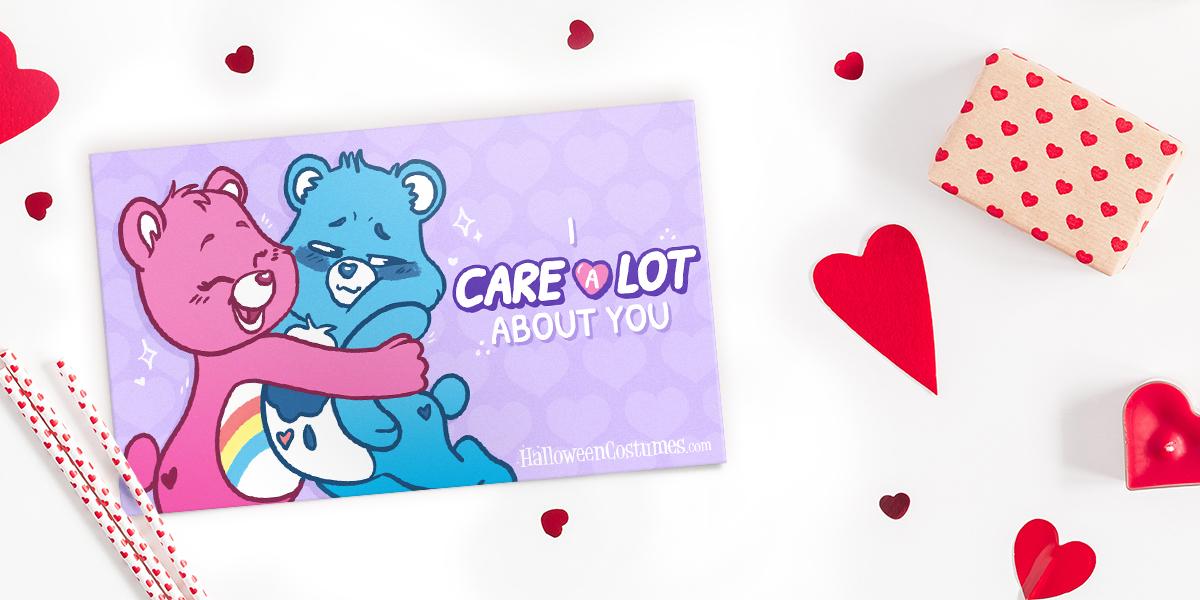 Cheer Bear and Grumpy Bear Valentine