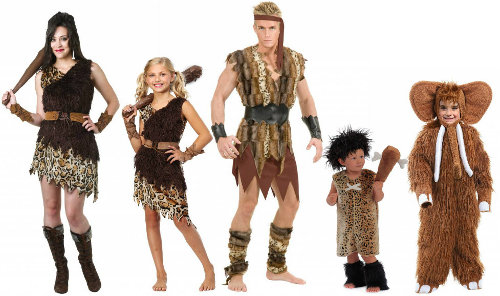 Caveman family group costume