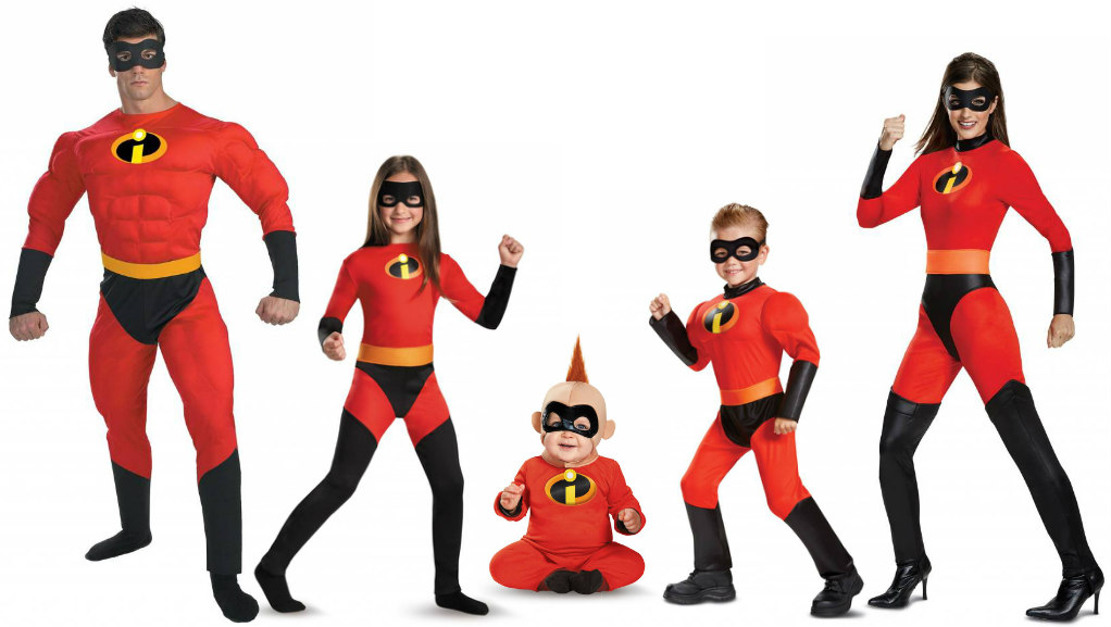 The Incredibles family costumes