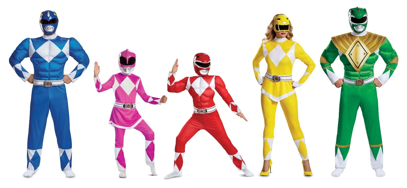 Group Power Rangers Costumes