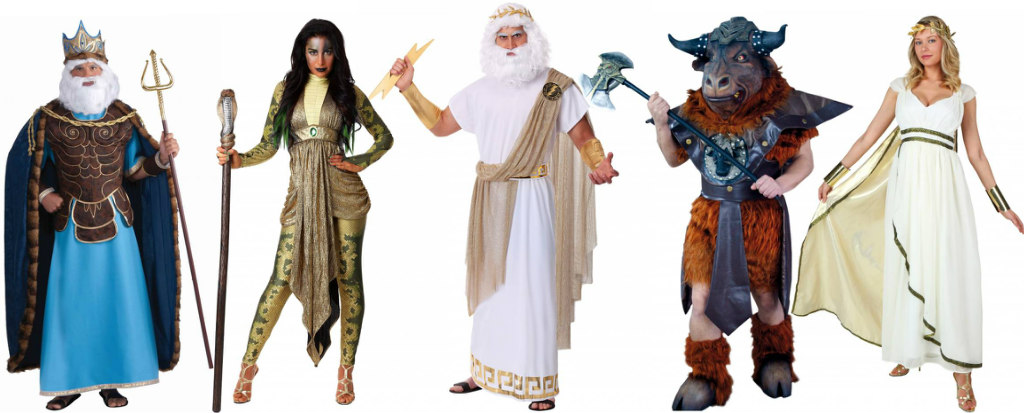 Roman and Greek Gods group costume