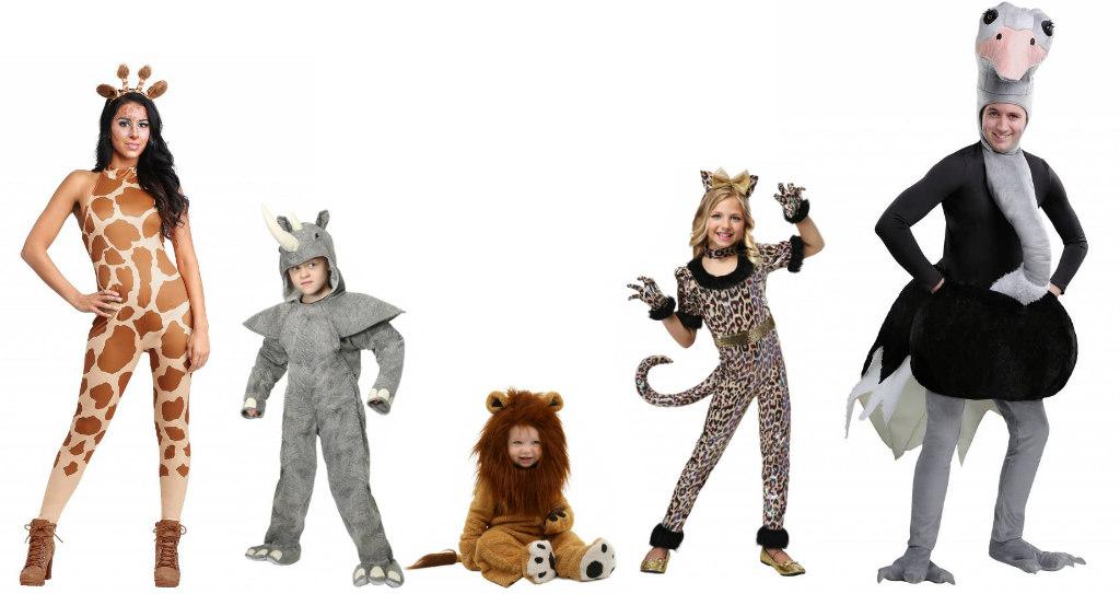 Safari Animal Family Costumes