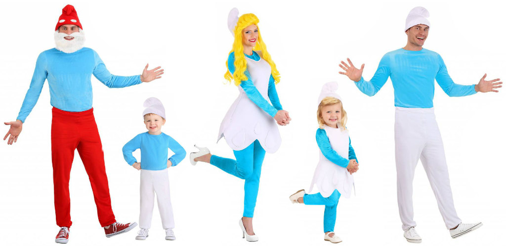 Smurf family costume idea