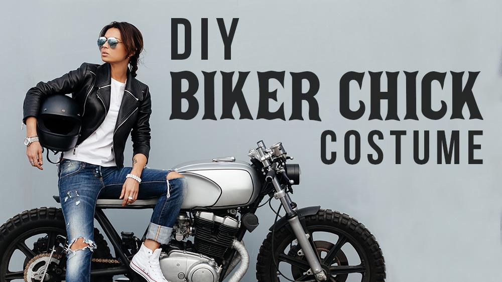 DIY Biker Chick Costume for Halloween