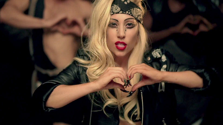 Lady Gaga Judas Biker Outfit