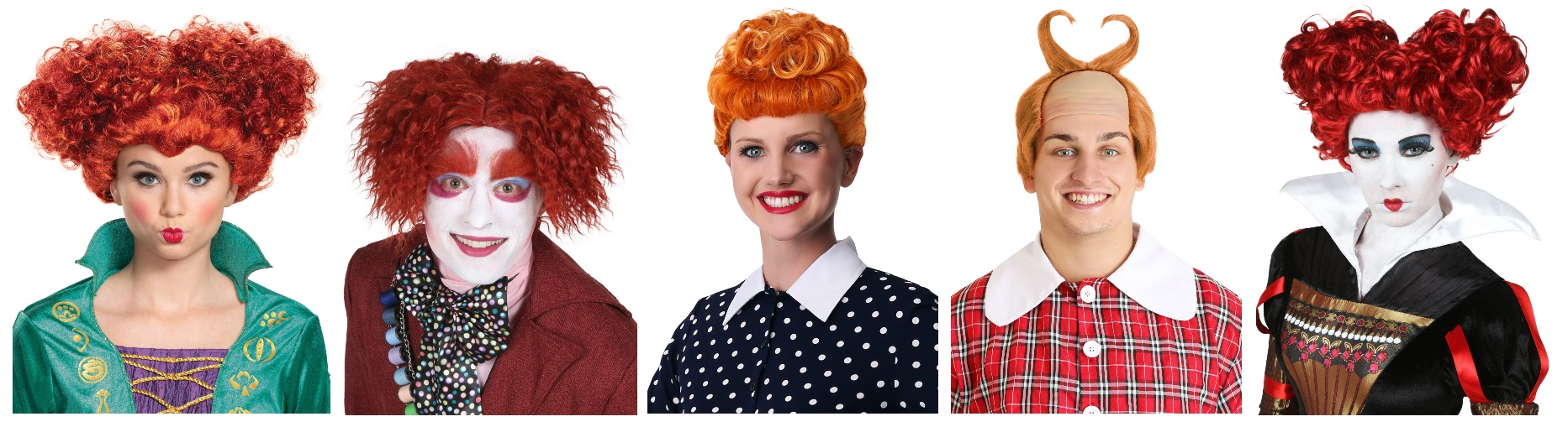 Adult Red Wig Characters