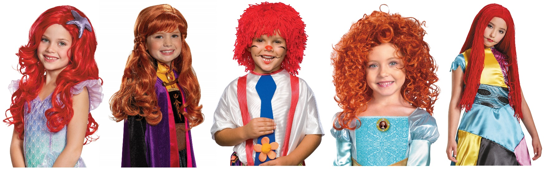 Kids' Red Wig Characters
