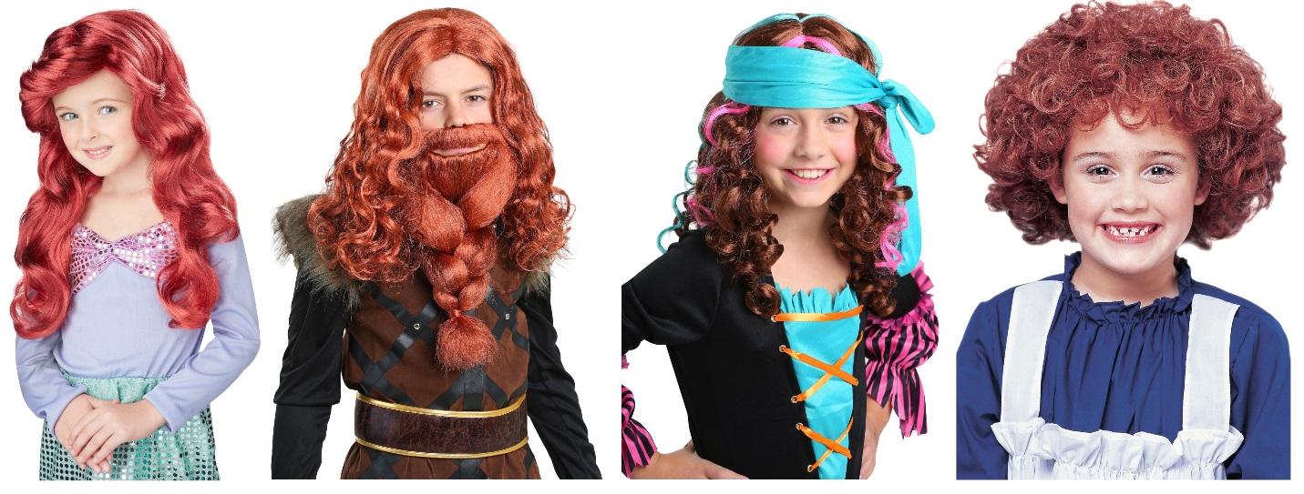 Kids' Red Wigs