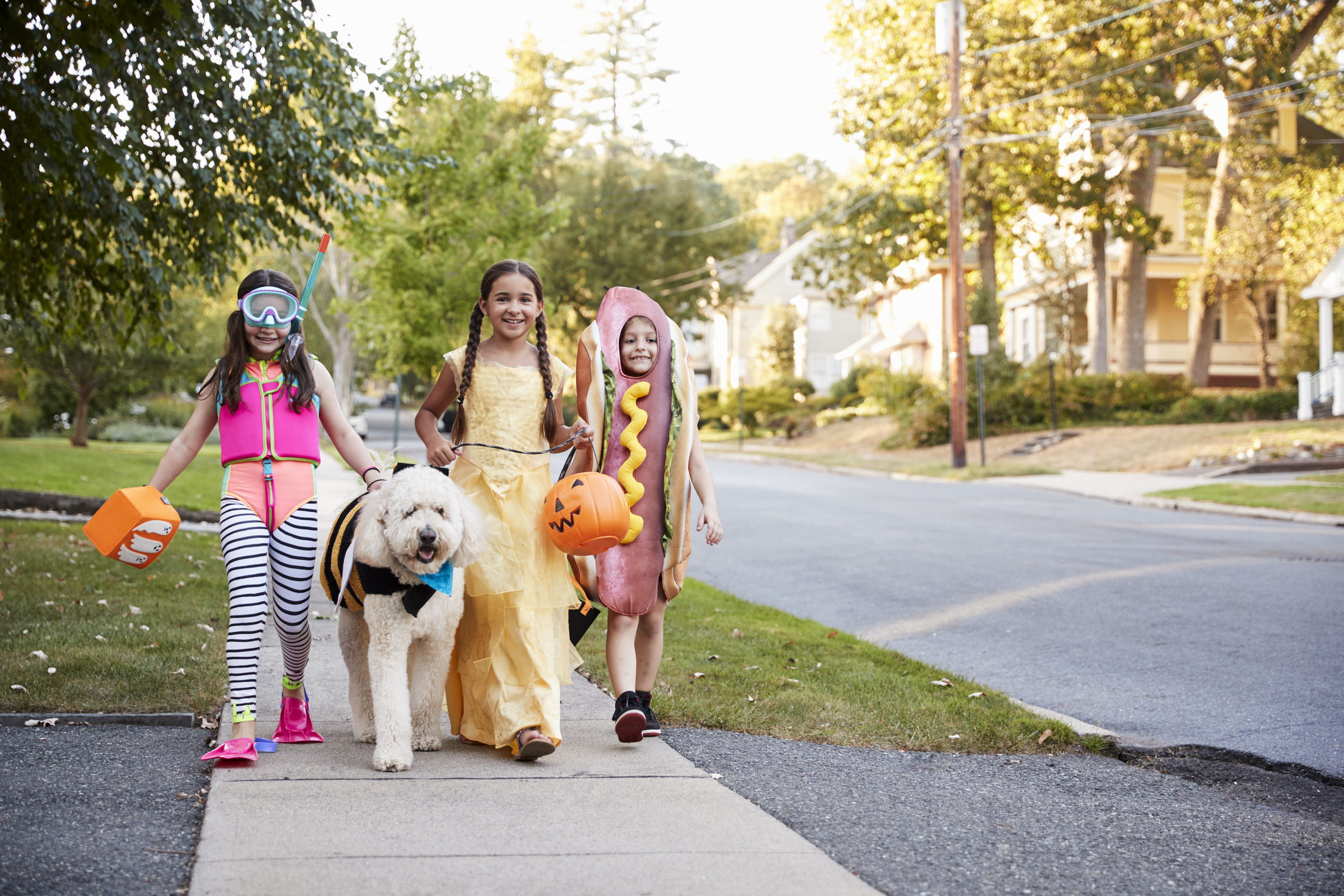 Walking Trick or Treaters