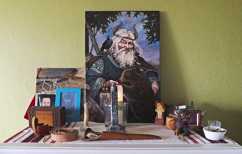 Slavic Home Altar Veles