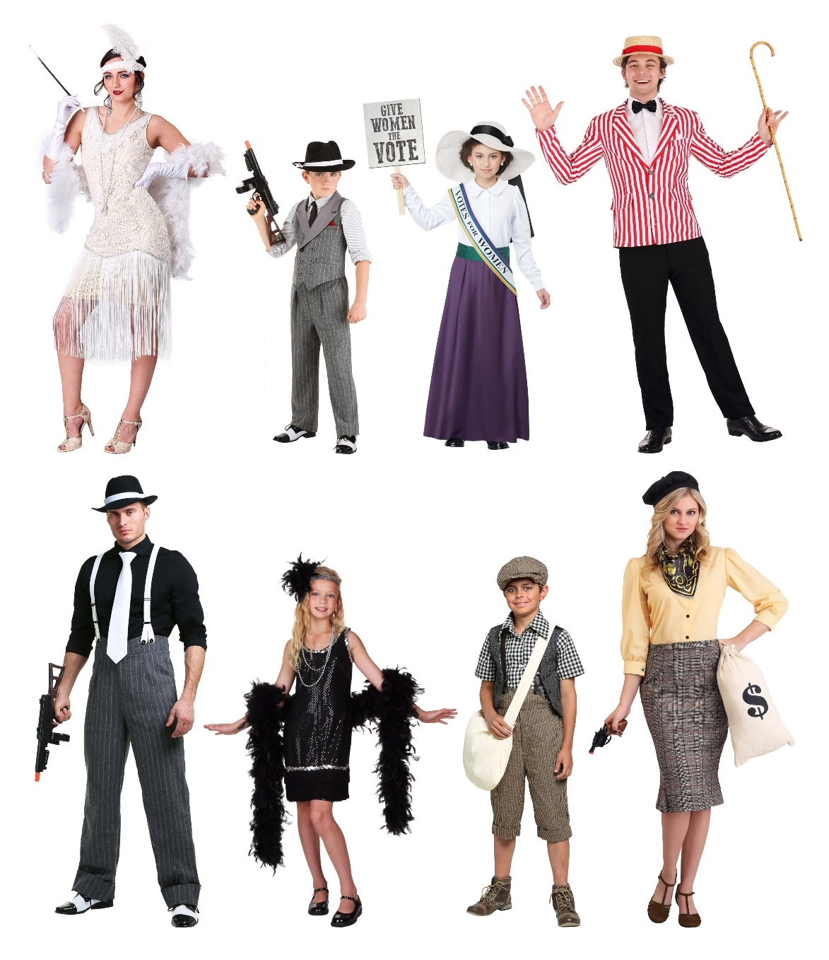 Group 1920s Costumes