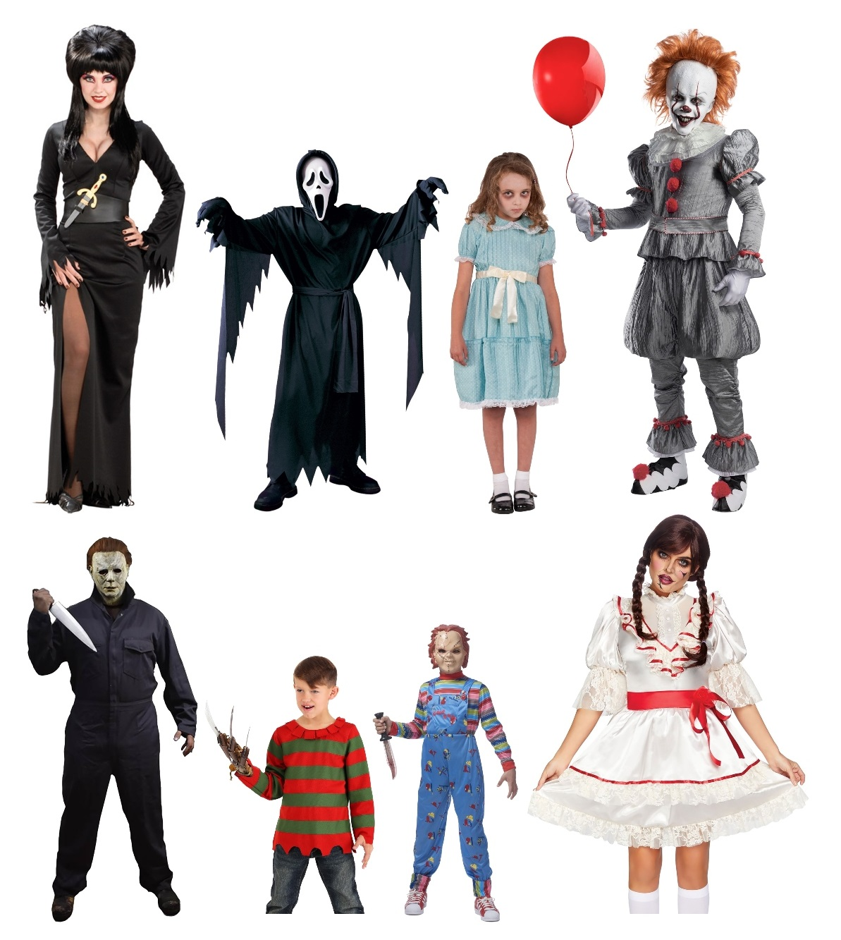 Group Horror Movie Costumes