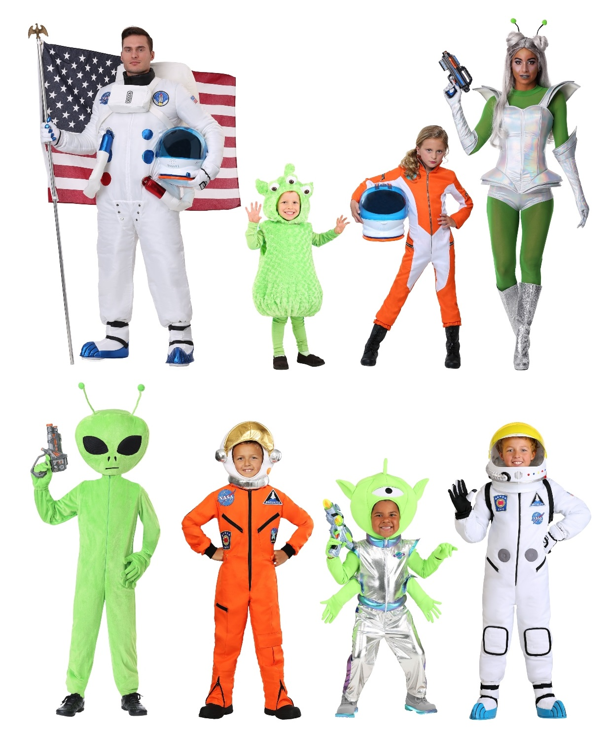 Group Space Costumes