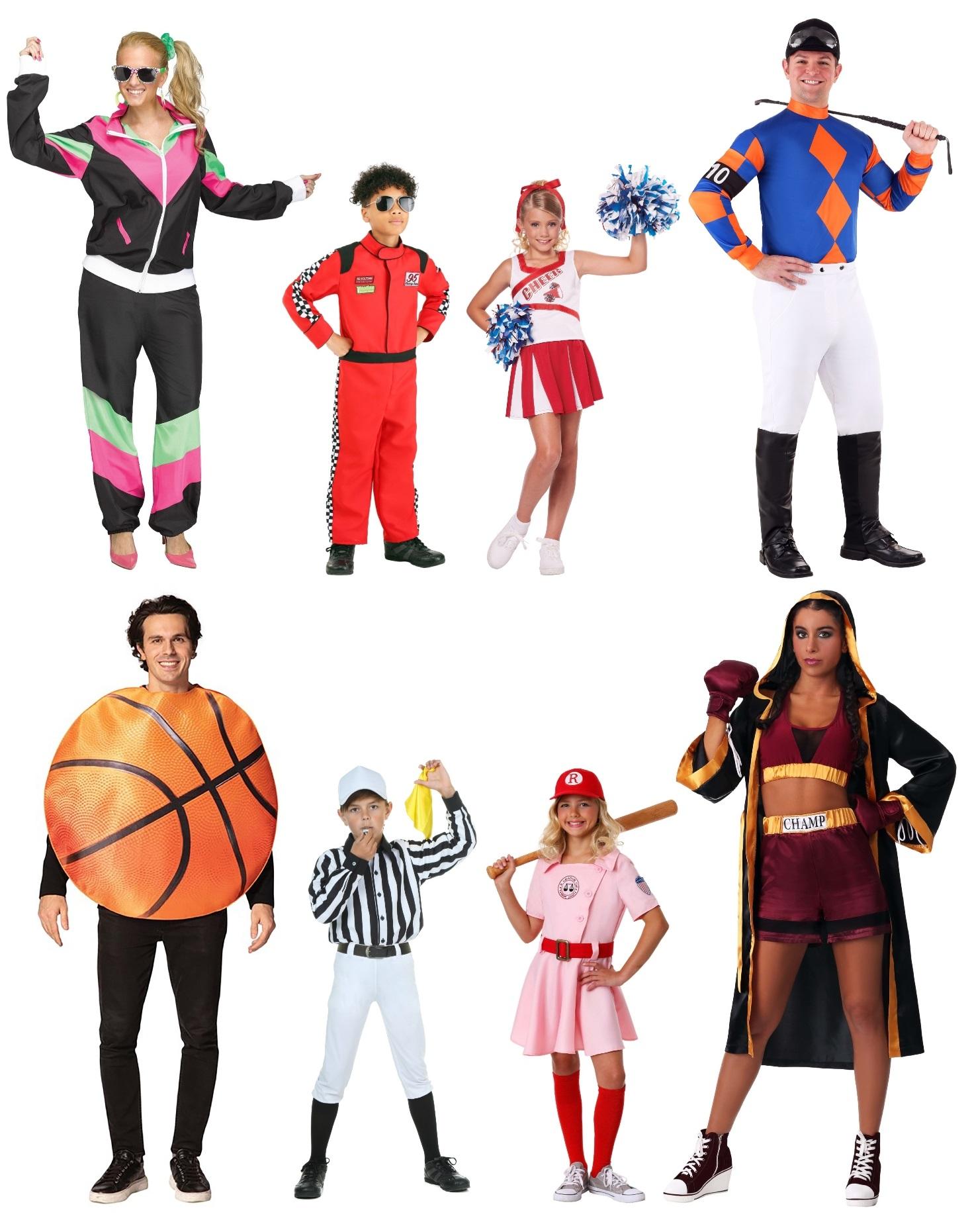 Sports fan group costume