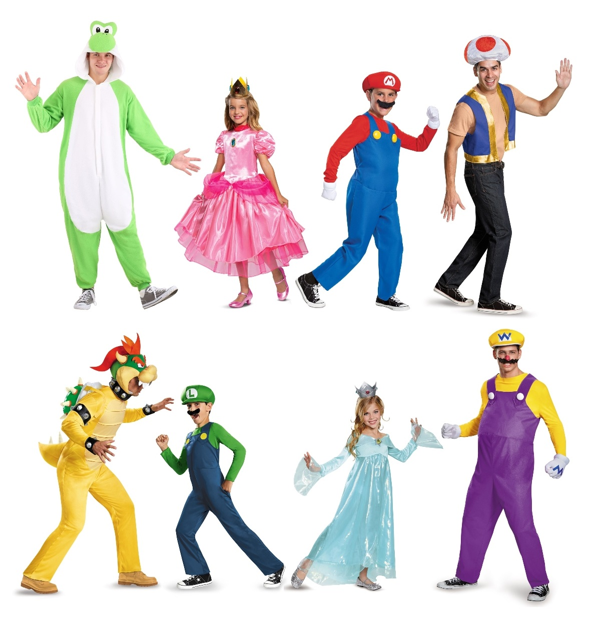 Super Mario Family Costumes