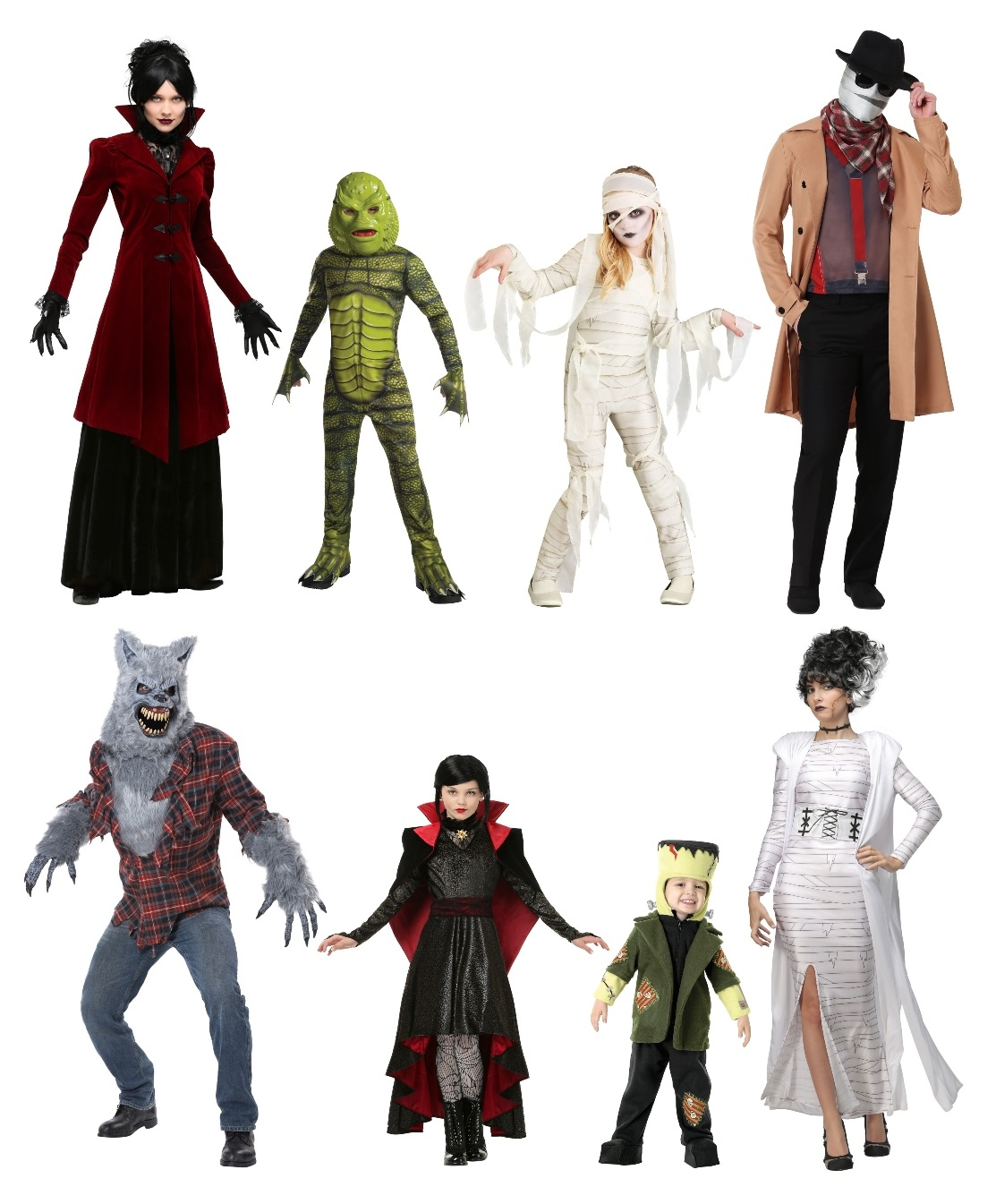Group Universal Monsters Costumes