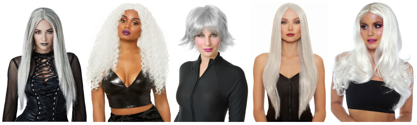 Silver and White Wigs for Storm From the X-Men