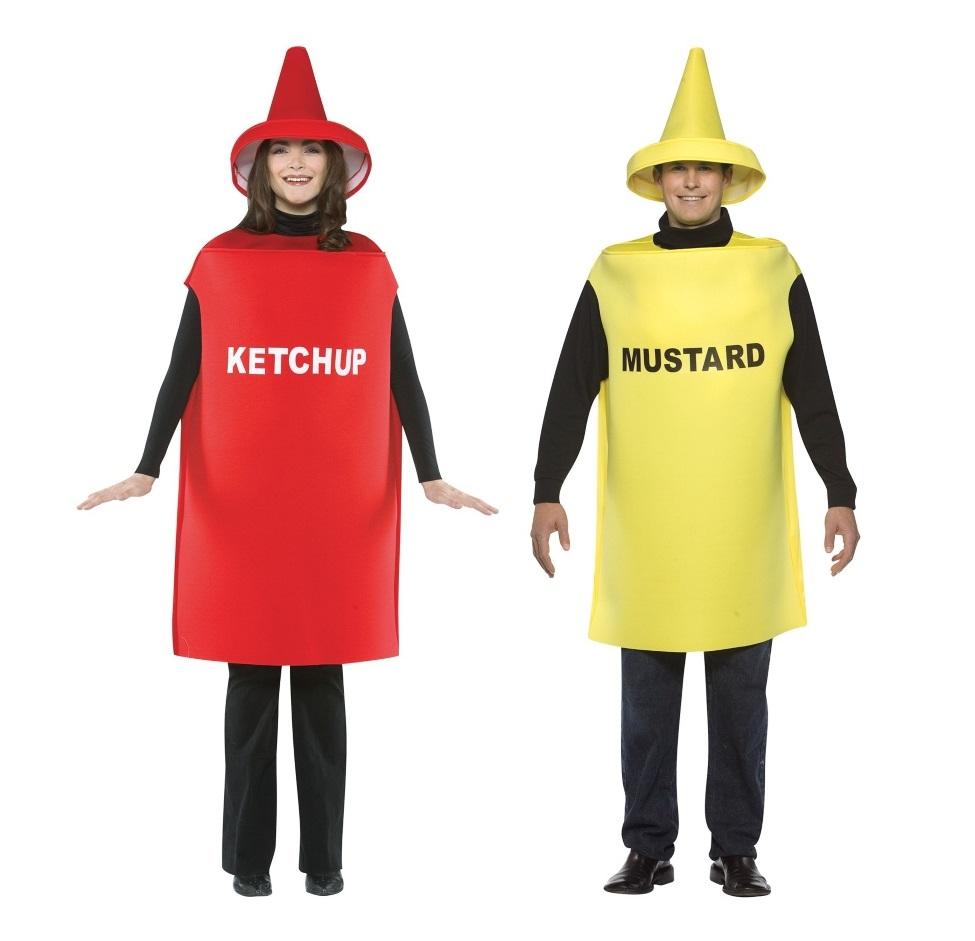 Duo Ketchup and Mustard Costumes