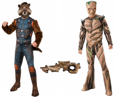 Groot and Rocket Costumes