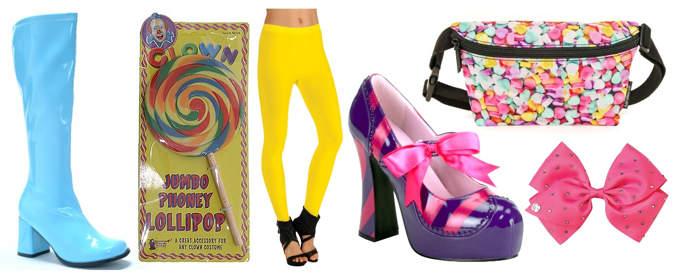 Colorful Costume Accessories for Candy Costumes