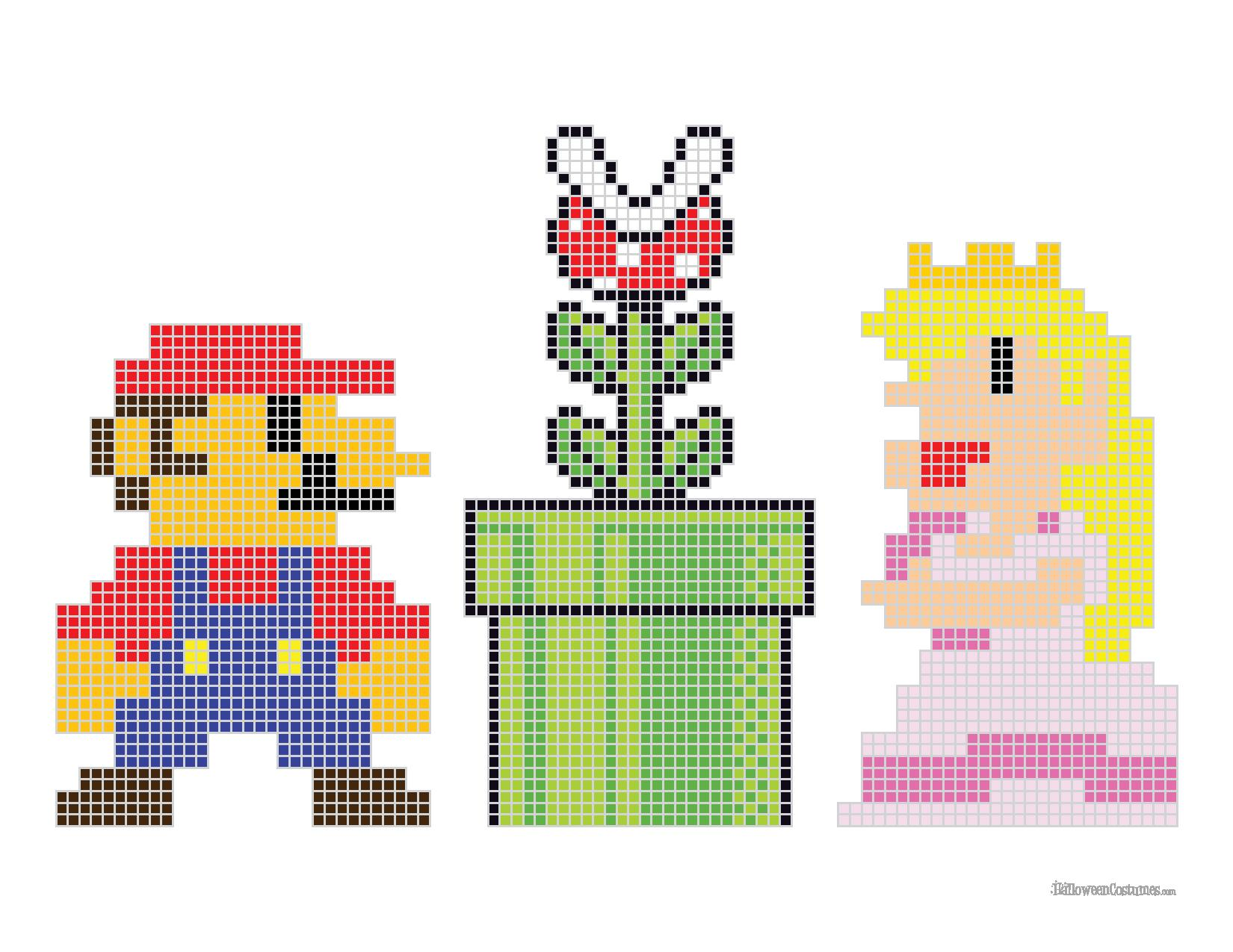 Mario Bros. Cross Stitch Pattern