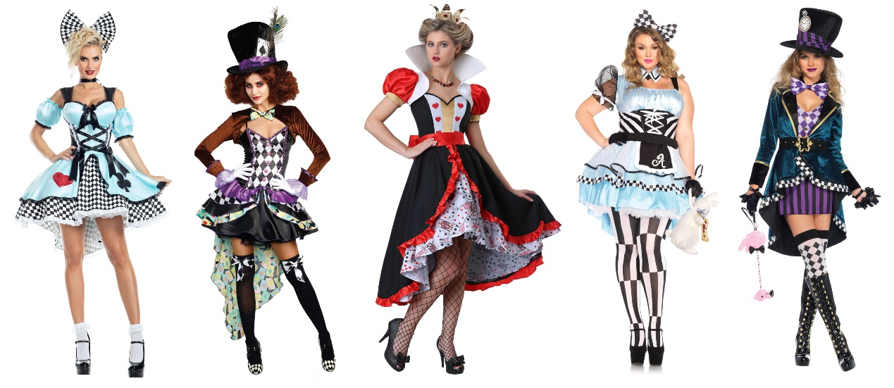 Alice in Wonderland High Low Dress Costumes