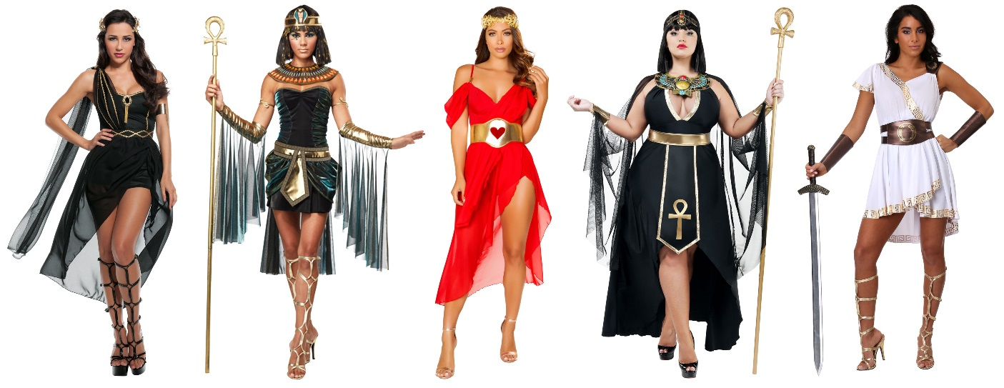 Ancient Goddess High Low Dress Costumes