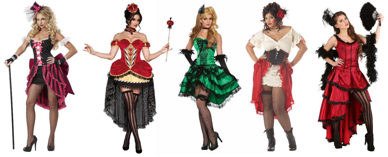 Burlesque High Low Dress Costumes