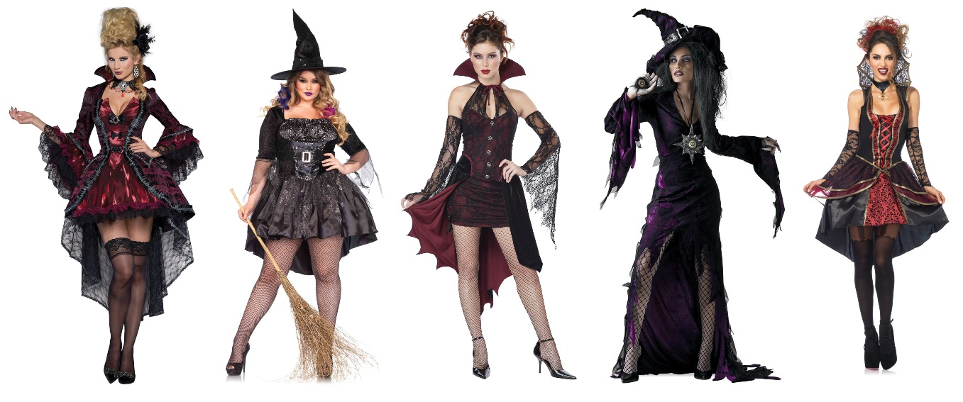 Spooky High Low Dress Costumes
