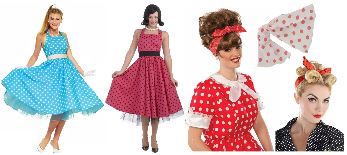 Polka Dot Accessories and Dresses for Pop Art Costumes
