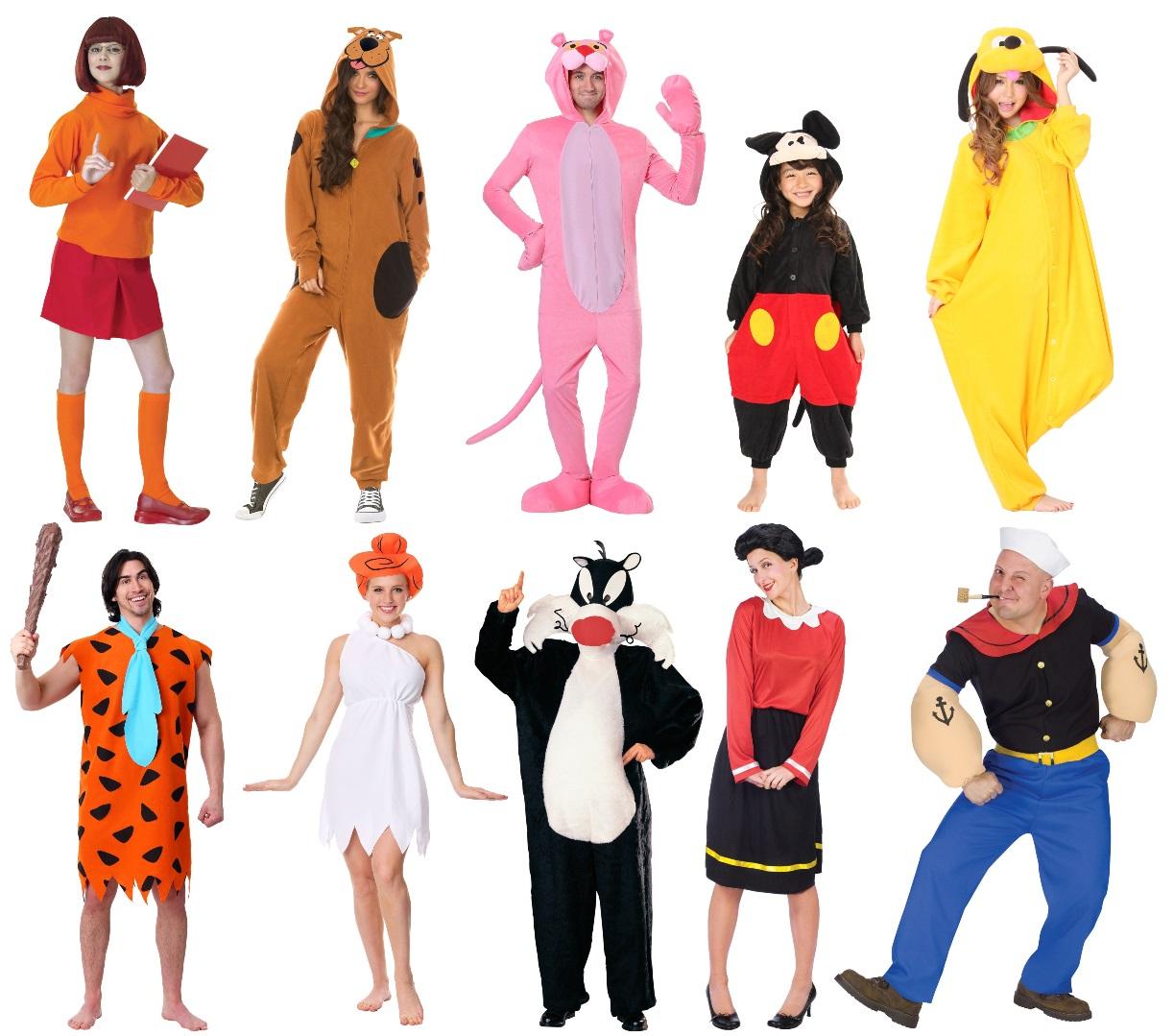 Retro Cartoon Character Costumes