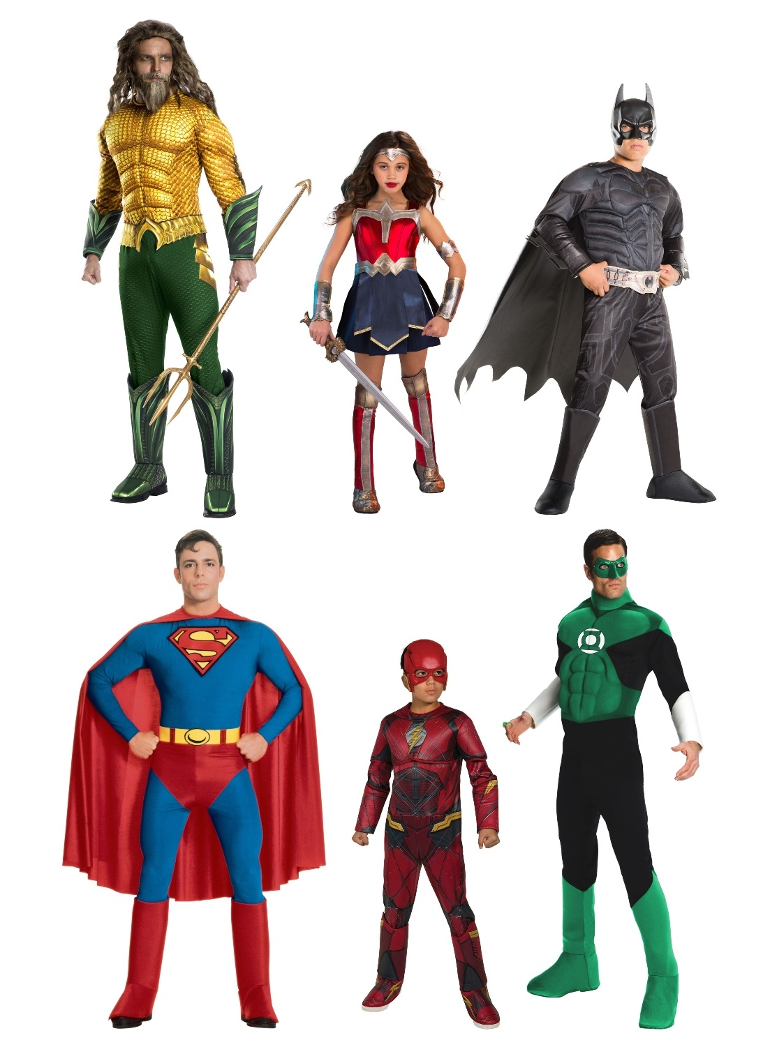 Justice League Group Costumes