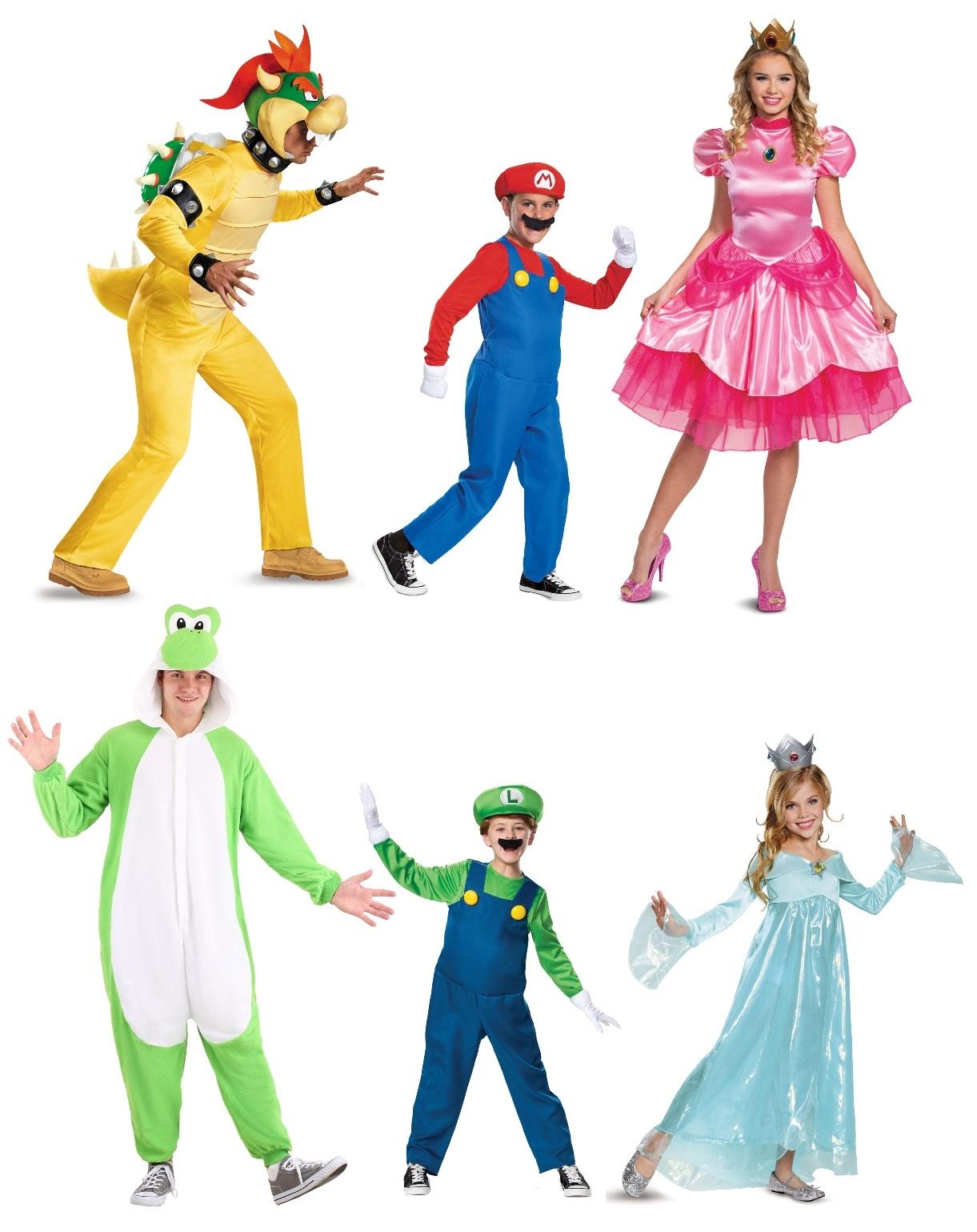 Super Mario Bros. Group Costumes