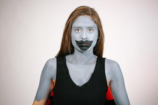 Horror Mask Step 1