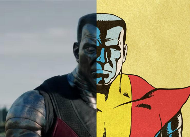 Colossus Movie vs. Comics Comparison