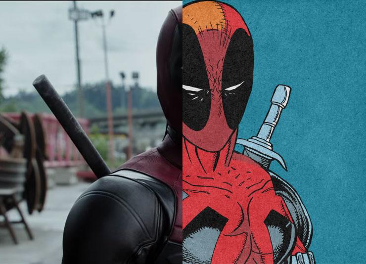 Deadpool Comics vs. Movie Comparison