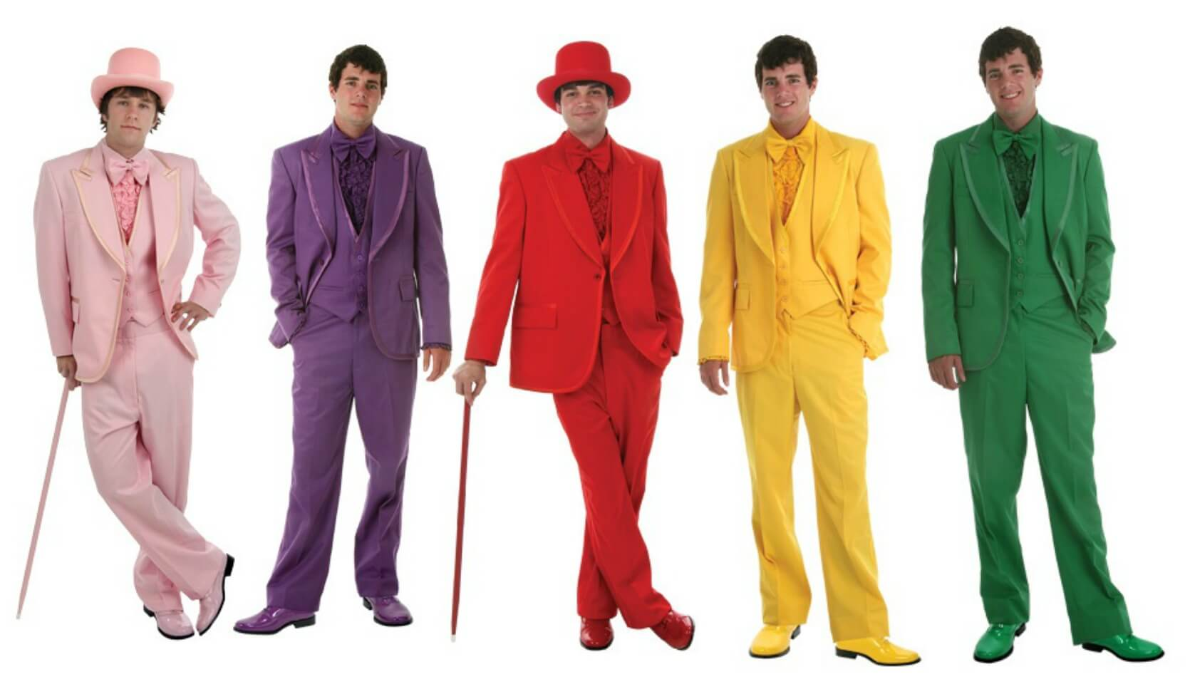 Bright Colored Tuxedos and Suits