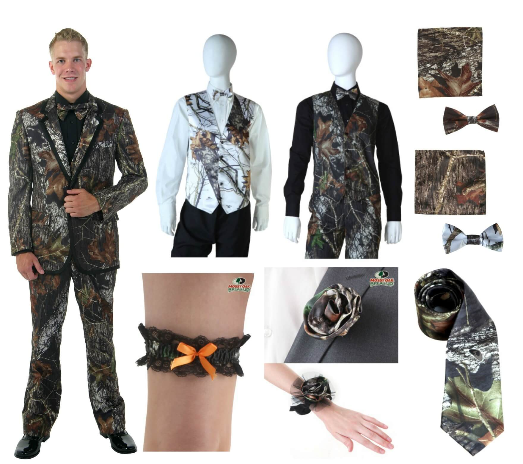 Camo and Mossy Oak Tuxedos