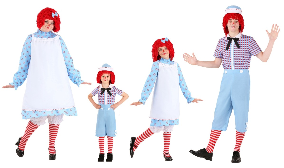 Andy and Raggedy Ann Halloween Costumes
