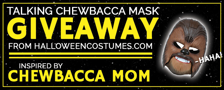 Talking Chewbacca Mask Giveaway Header
