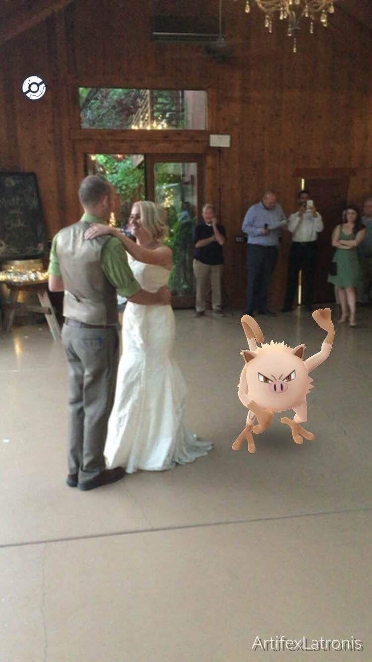 Pokemon Go Mankey at Wedding