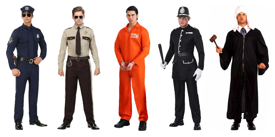 Criminal Justice Major Costumes for Guys