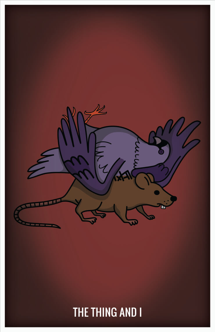 Simpsons pigeon rat