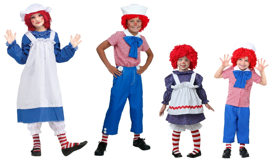 Andy and Raggedy Ann Costumes
