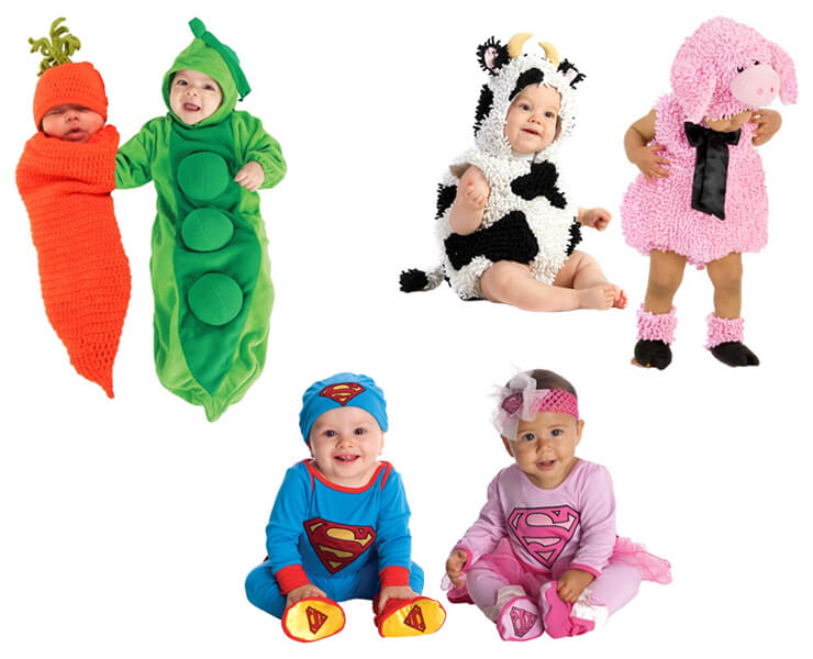 Costumes for Twin Babies