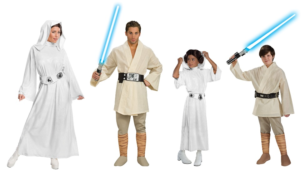 Leia and Luke Costumes
